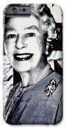 Queen Elizabeth II iPhone Case by Luis Ludzska