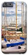 Sailoats Docked in Marina iPhone Case by David Buffington