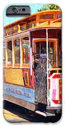 San Francisco Cablecar At Fishermans Wharf . 7D14097 iPhone Case by Wingsdomain Art and Photography