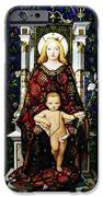 Stained Glass of Virgin Mary iPhone Case by Adam Romanowicz