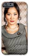 Stylish vintage asian pin-up lady with cigarette iPhone Case by Ryan Jorgensen