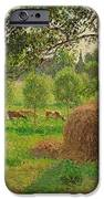 Sunset at Eragny iPhone Case by Camille Pissarro