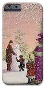 The Snowman iPhone Case by Peter Szumowski