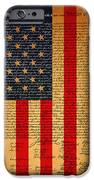 The United States Declaration of Independence And The American Flag 20130215 iPhone Case by Wingsdomain Art and Photography