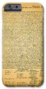 The United States Declaration of Independence iPhone Case by Wingsdomain Art and Photography