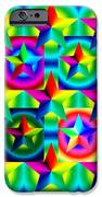Thirteen Stars with Ring Gradients iPhone Case by Eric Edelman