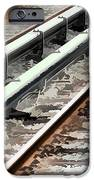 View of the railway track  iPhone Case by Lanjee Chee