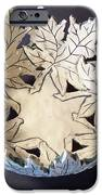 White Maple Leaf Bowl iPhone Case by Carolyn Coffey Wallace