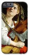 Young Woman with a Violin iPhone Case by Orazio Gentileschi