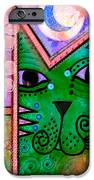 House Of Cats Series - Moon Cat IPhone Case by Moon Stumpp