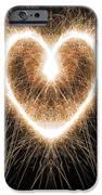 Fiery Heart IPhone Case by Tim Gainey