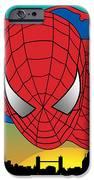 Spiderman  IPhone Case by Mark Ashkenazi