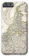 1775 Janvier Map Of Holland And Belgium IPhone Case by Paul Fearn