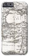 1780 Raynal And Bonne Map Of Turkey In Europe And Asia IPhone Case by Paul Fearn