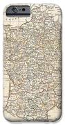 1799 Clement Cruttwell Map Of France In Departments IPhone Case by Paul Fearn