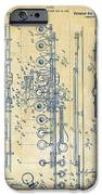 1908 Flute Patent - Vintage IPhone Case by Nikki Marie Smith