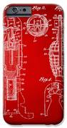 1921 Explosive Missle Patent Minimal Red IPhone Case by Nikki Marie Smith