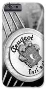 1937 Peugeot 402 Darl'mat Legere Special Sport Roadster Recreation Steering Wheel Emblem IPhone Case by Jill Reger