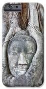 Buddha Head In Tree IPhone Case by Fototrav Print