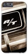 1970 Dodge Challenger Rt Convertible Grille Emblem IPhone Case by Jill Reger