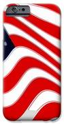 50 Star American Flag Closeup Abstract 8 IPhone Case by L Brown