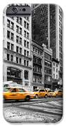5th Avenue Yellow Cab IPhone Case by John Farnan