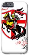 A Day For England Happy St George Day Retro Poster IPhone Case by Aloysius Patrimonio