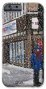 A Snowy Day On Wellington IPhone Case by Reb Frost