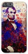 Abraham Lincoln With Flags IPhone Case by Bekim Art