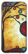 Abstract Art Original Metallic Gold Landscape Painting Freedom Of Joy By Madart IPhone Case by Megan Duncanson