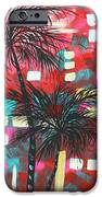 Abstract Art Original Tropical Landscape Painting Fun In The Tropics By Madart IPhone Case by Megan Duncanson