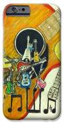 Abstract Guitars IPhone Case by Larry Lamb