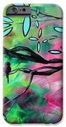 Abstract Landscape Bird And Blossoms Original Painting Birds Delight By Madart IPhone Case by Megan Duncanson