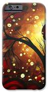 Abstract Landscape Glowing Orb By Madart IPhone Case by Megan Duncanson
