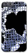 Abstract Leaf Pattern - Black White Blue IPhone Case by Natalie Kinnear