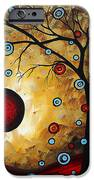 Abstract Original Gold Textured Painting Frosted Gold By Madart IPhone Case by Megan Duncanson