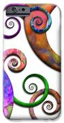Abstract - Spirals - Planet X IPhone Case by Mike Savad