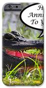 Alligator Anniversary Card IPhone Case by Al Powell Photography USA