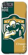 American Gridiron All Star League Poster IPhone Case by Aloysius Patrimonio