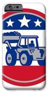 American Mechanical Digger Excavator Retro IPhone Case by Aloysius Patrimonio