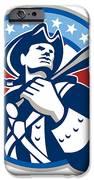 American Patriot Baseball Bat Retro IPhone Case by Aloysius Patrimonio