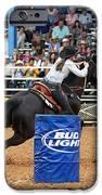 American Rodeo Female Barrel Racer Dark Horse Iv IPhone Case by Sally Rockefeller