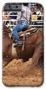 American Rodeo Female Barrel Racer White Blaze Chestnut Horse IIi IPhone Case by Sally Rockefeller