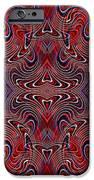 Americana Swirl Design 2 IPhone Case by Sarah Loft