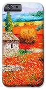 Among The Poppies IPhone Case by Jean-Marc Janiaczyk