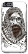 Ancient Hunter A Pen And Ink Drawing IPhone Case by Mario Perez
