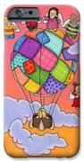 Angels With Hot Air Balloon IPhone Case by Sarah Batalka