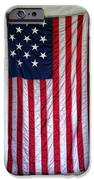 Antique American Flag IPhone Case by Olivier Le Queinec