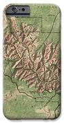 Antique Map Of Grand Canyon National Park By The National Park Service - 1926 IPhone Case by Blue Monocle