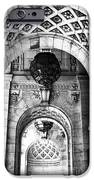 Archways At The Library Bw IPhone Case by John Rizzuto